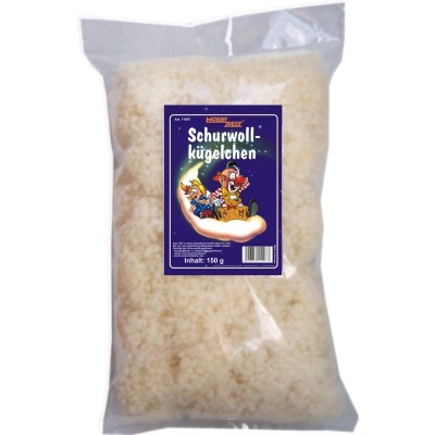 Schurwollkügelchen, 150g (VE: 3 Stück)