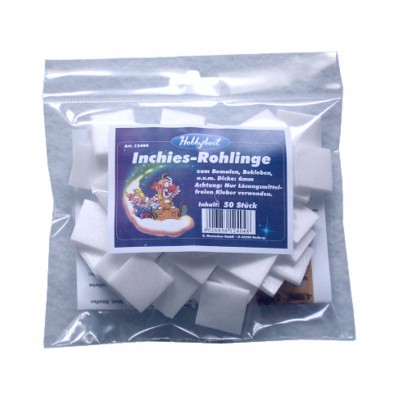Inchies-Rohlinge, 6 mm dick, Beutel zu 50 Stk.
