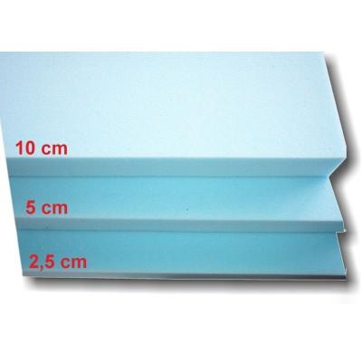 Polsterschaum, blau (RG 35), 50 x 50 x 5 cm