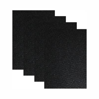 Hartfilz Bastelsets 30 x 42 cm: Set je 4 St. im Beutel schwarz