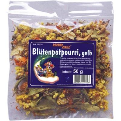 Blütenpotpourri, gelb, 50g (VE: 5 Stück)