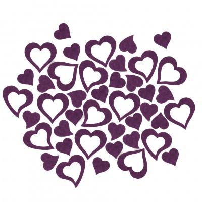 Streudeko Herzen aus Filz 5 g lila (VE: 24 Beutel)