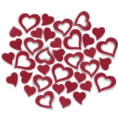 Streudeko Herzen aus Filz 25 g (VE: 20 Beutel)
