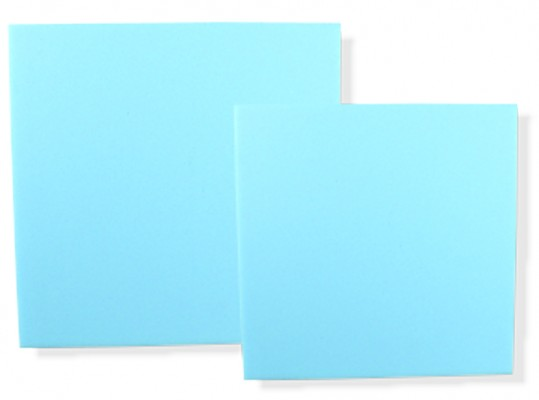 Polsterschaum, blau (RG35), 35x35x2,5cm