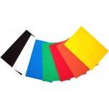 Regenbogenset aus Hartfilz bestehend aus 7 Farben. Je 1 Matte in: gelb, orange, rot, grün, blau, weiss & schwarz