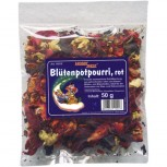 Blütenpotpourri, rot, 50g (VE: 5 Stück)