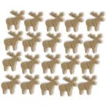 Streudeko Rentiere aus Filz 15 g saharabeige (VE: 24 Beutel)