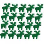 Streudeko Rentiere aus Filz 15 g grün (VE: 24 Beutel)