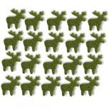Streudeko Rentiere aus Filz 15 g moosgrün (VE: 24 Beutel)