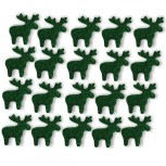 Streudeko Rentiere aus Filz 15 g tannengrün (VE: 24 Beutel)