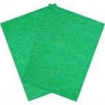 Hartfilz Bastelsets 30 x 42 cm: Set je 2 St. im Beutel grün
