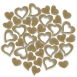 Streudeko Herzen aus Filz 5 g saharabeige (VE: 24 Beutel)