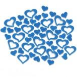 Streudeko Herzen aus Filz 25 g blau (VE: 20 Beutel)