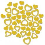 Streudeko Herzen aus Filz 5 g gelb (VE: 24 Beutel)