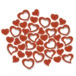 Streudeko Herzen aus Filz 25 g orange (VE: 20 Beutel)