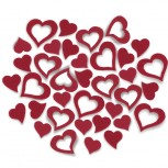 Streudeko Herzen aus Filz 5 g (VE: 24 Beutel)