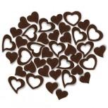 Streudeko Herzen aus Filz 25 g schokobraun (VE: 20 Beutel)