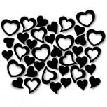 Streudeko Herzen aus Filz 5 g schwarz (VE: 24 Beutel)