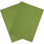 Hartfilz Bastelsets 30 x 42 cm: Set je 2 St. im Beutel moosgrün