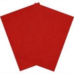 Hartfilz Bastelsets 30 x 42 cm: Set je 2 St. im Beutel rot