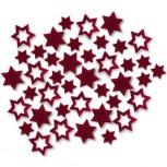 Streudeko Sterne aus Filz 15 g bordeaux (VE: 24 Beutel)