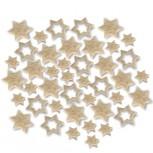 Streudeko Sterne aus Filz 15 g saharabeige (VE: 24 Beutel)