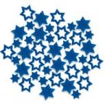 Streudeko Sterne aus Filz 25 g blau (VE: 20 Beutel)