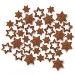 Streudeko Sterne aus Filz 5 g cognac (VE: 24 Beutel)