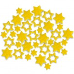 Streudeko Sterne aus Filz 5 g gelb (VE: 24 Beutel)