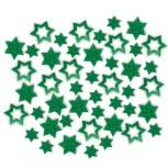 Streudeko Sterne aus Filz 25 g grün (VE: 20 Beutel)