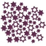 Streudeko Sterne aus Filz 15 g lila (VE: 24 Beutel)