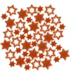Streudeko Sterne aus Filz 5 g orange (VE: 24 Beutel)