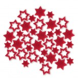 Streudeko Sterne aus Filz 5 g rot (VE: 24 Beutel)
