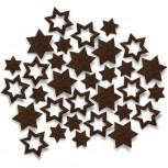 Streudeko Sterne aus Filz 25 g schokobraun (VE: 20 Beutel)