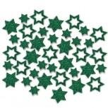 Streudeko Sterne aus Filz 5 g tannengrün (VE: 24 Beutel)