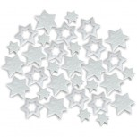 Streudeko Sterne aus Filz 5 g weiss (VE: 24 Beutel)