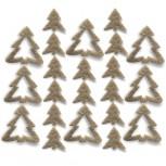 Streudeko Tannenbaum aus Filz 25 g saharabeige (VE: 20 Beutel)