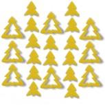 Streudeko Tannenbaum aus Filz 15 g gelb (VE: 24 Beutel)