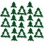 Streudeko Tannenbaum aus Filz 15 g grün (VE: 24 Beutel)