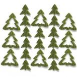 Streudeko Tannenbaum aus Filz 15 g moosgrün (VE: 24 Beutel)