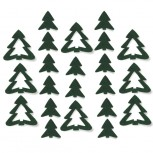 Streudeko Tannenbaum aus Filz 5 g tannengrün (VE: 24 Beutel)
